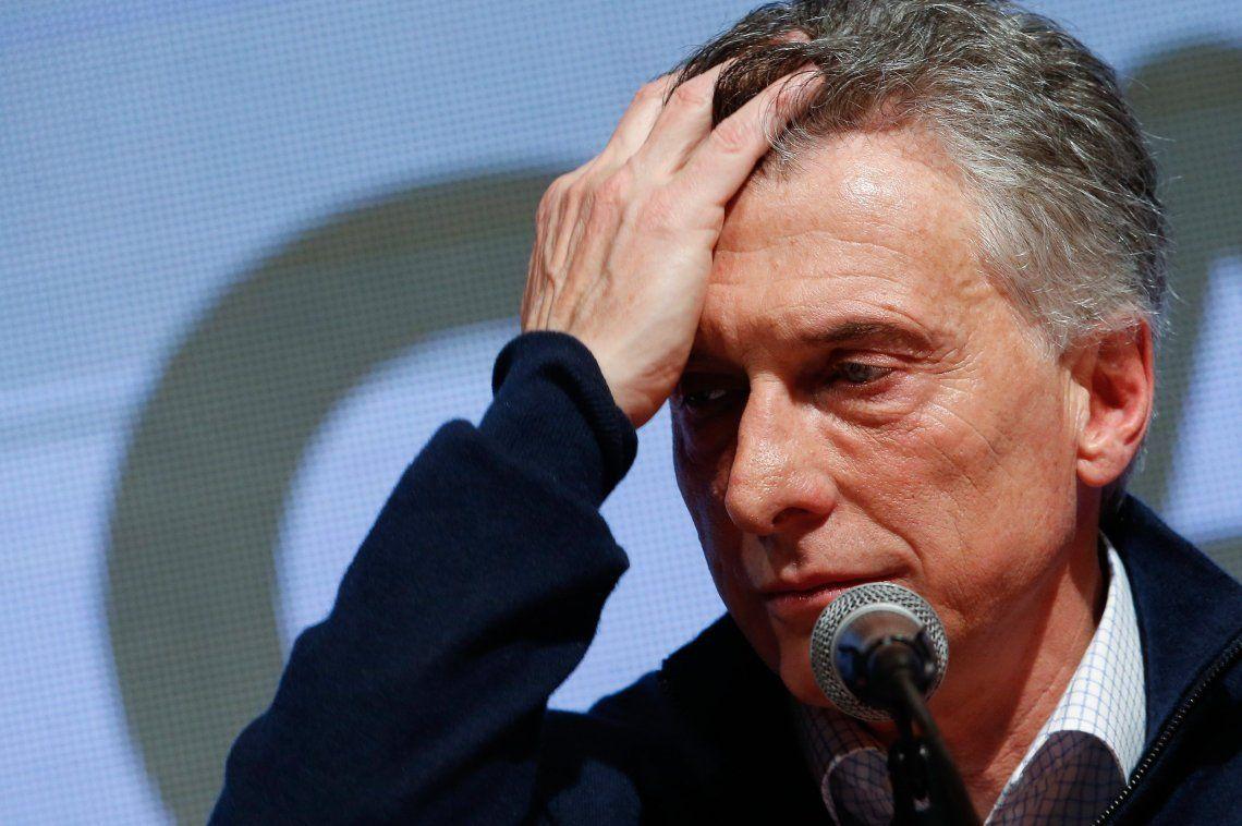 Mauricio Macri y un dolor de cabeza en medio de la campaña. Archivo.