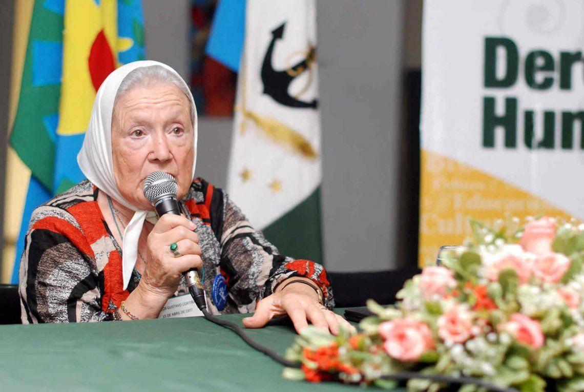 Nora Cortiñas: La muerte de Santiago Maldonado fue un crimen patrocinado, programado y ejecutado desde el Estado