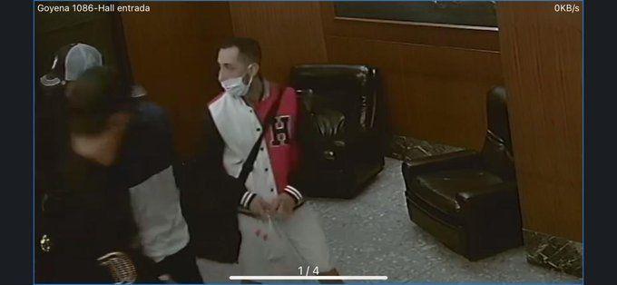 Los ladrones ingresaron al departamento de Caballito a cara descubierta.