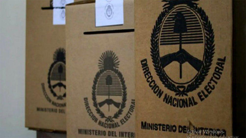 Cámara Nacional Electoral: las urnas estarán abiertas en el horario de 8 a 18