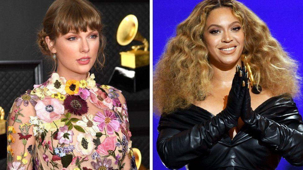 Taylor Swift y Beyoncé en los Premios Grammy 2021