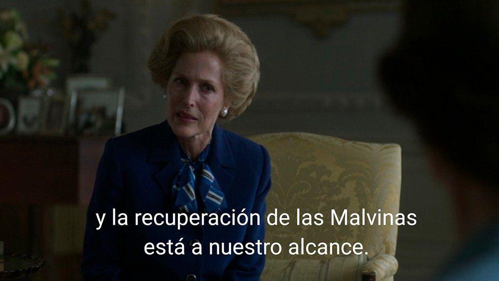 Thatcher aparece protagonizada en The Crown.