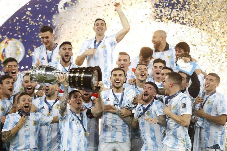 Seleccion Argentina llegó al país