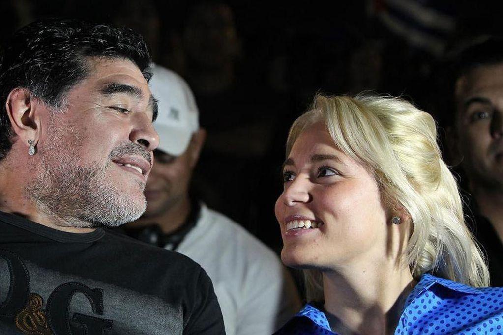 Rocío Oliva fue la última pareja de Diego Maradona y su declaración en la causa que investiga la muerte del 10 era muy esperada. Archivo.