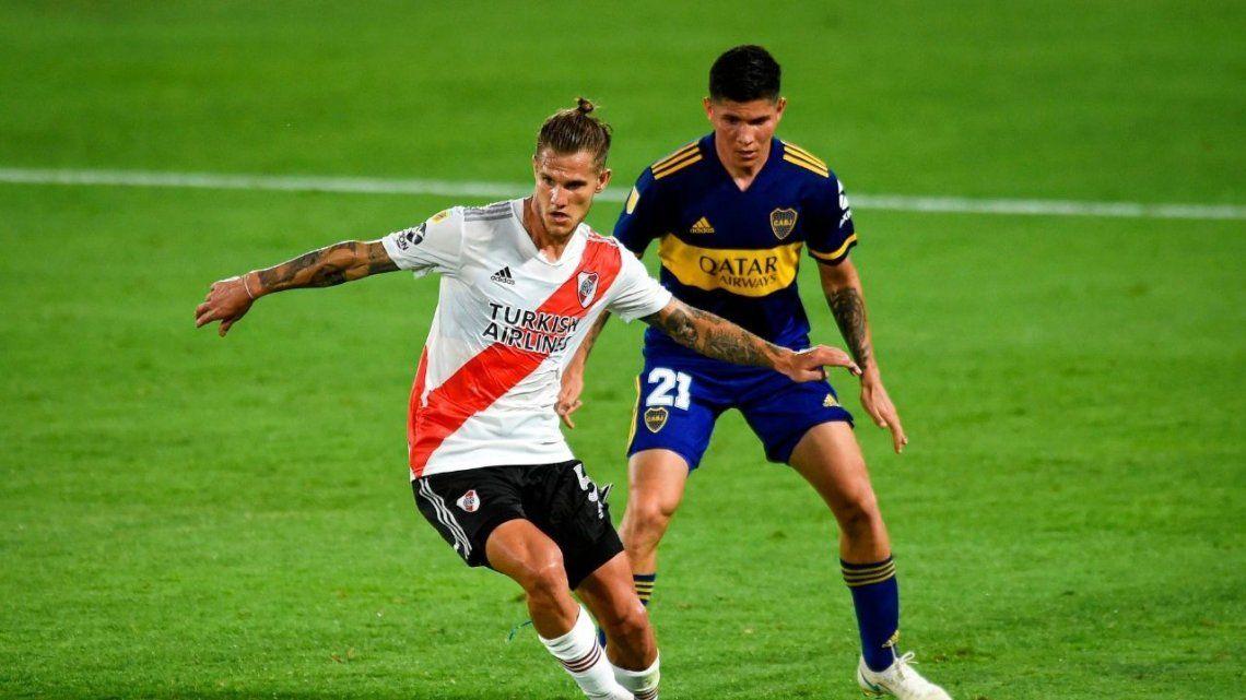 El superclásico River-Boca se jugará el domingo 3 de octubre en el estadio Monumental de Núñez. Archivo.