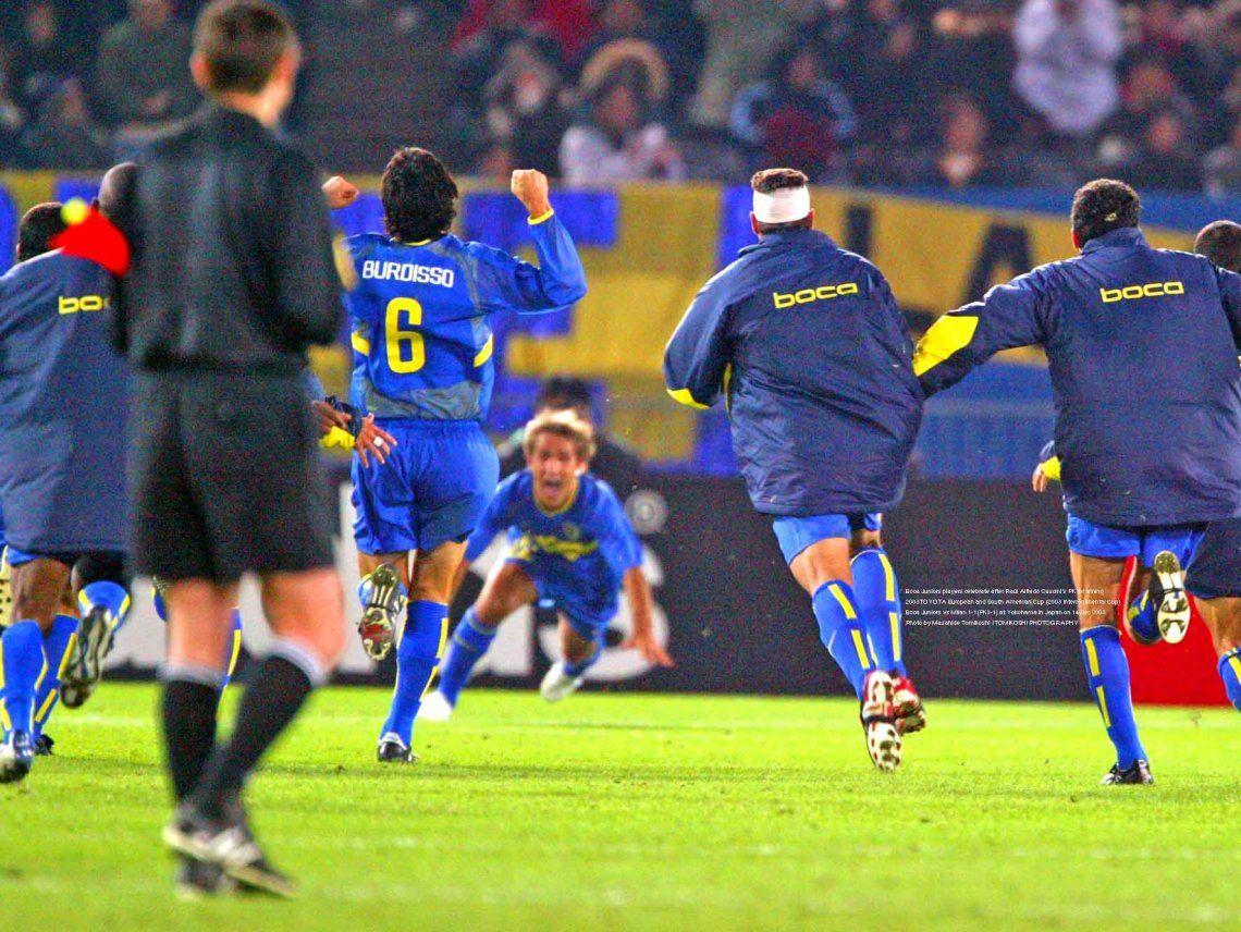 Cascini convirtió y Boca festejó una nueva copa del mundo