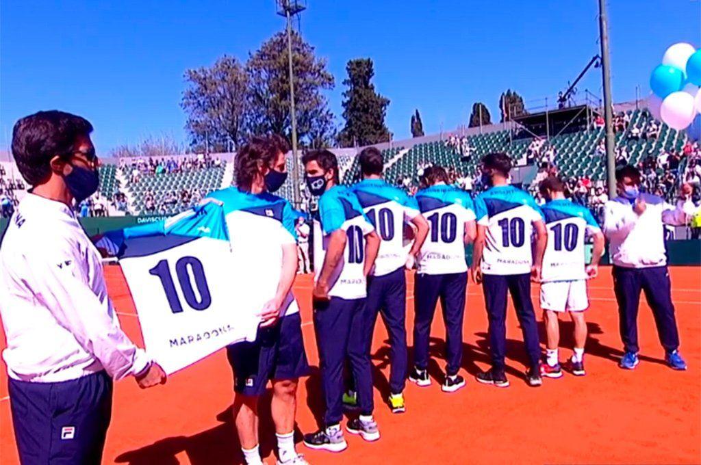 El homenaje a Maradona de parte del equipo de Copa Davis