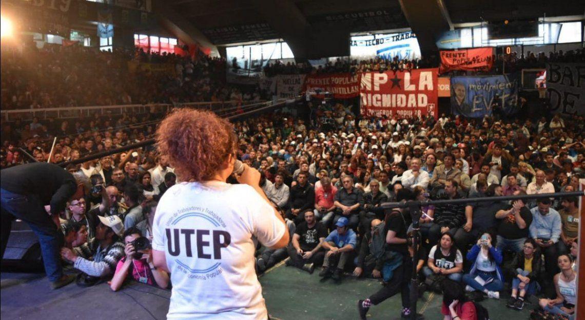 La Unión de Trabajadores de la Economía Popular (UTEP) se conformó ayer en un acto.