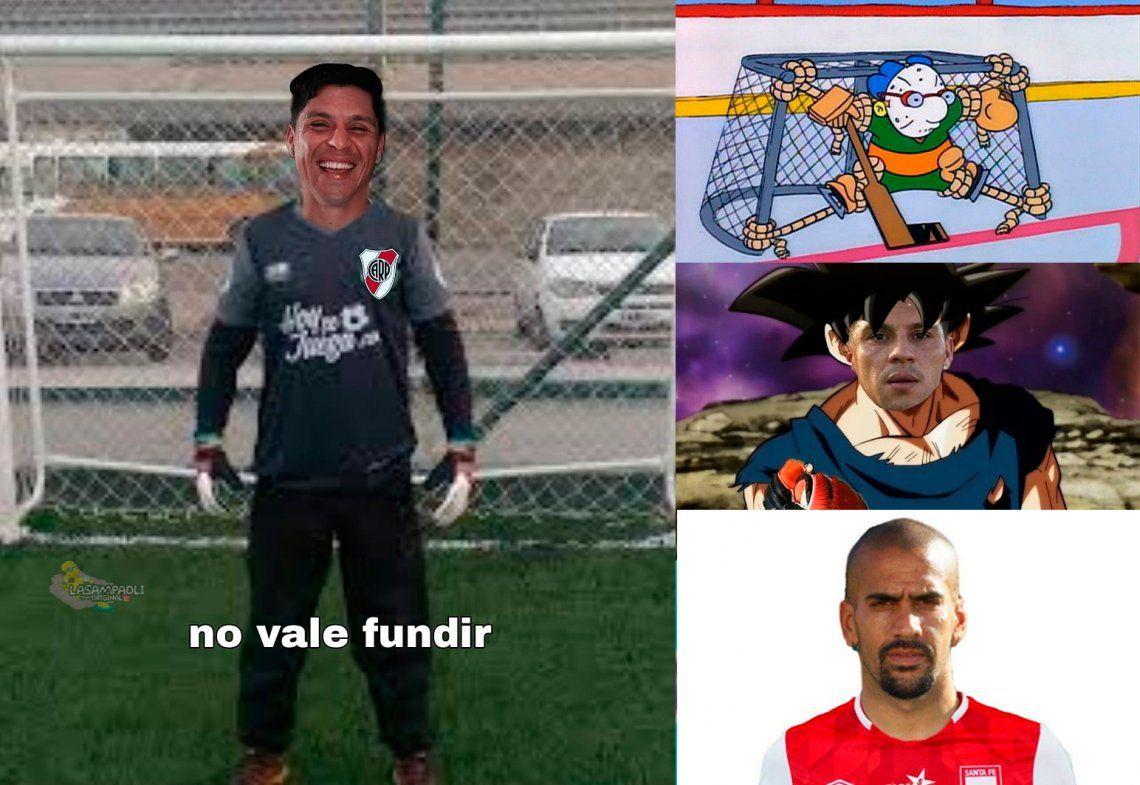Los memes del histórico partido de River con Enzo Pérez como arquero
