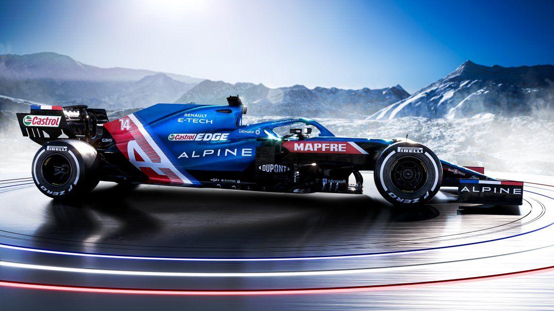 Alpine presentó el A521, el auto que debutará en la temporada 2021 de la F1