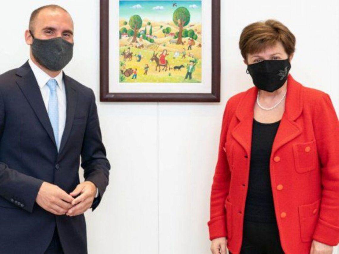 Martín Guzmán y Kristalina Georgieva.