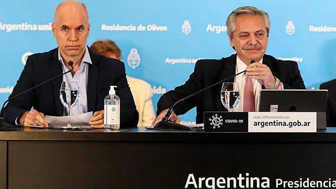 Alberto Fernández y Rodríguez Larreta se reúnen este viernes en Olivos.