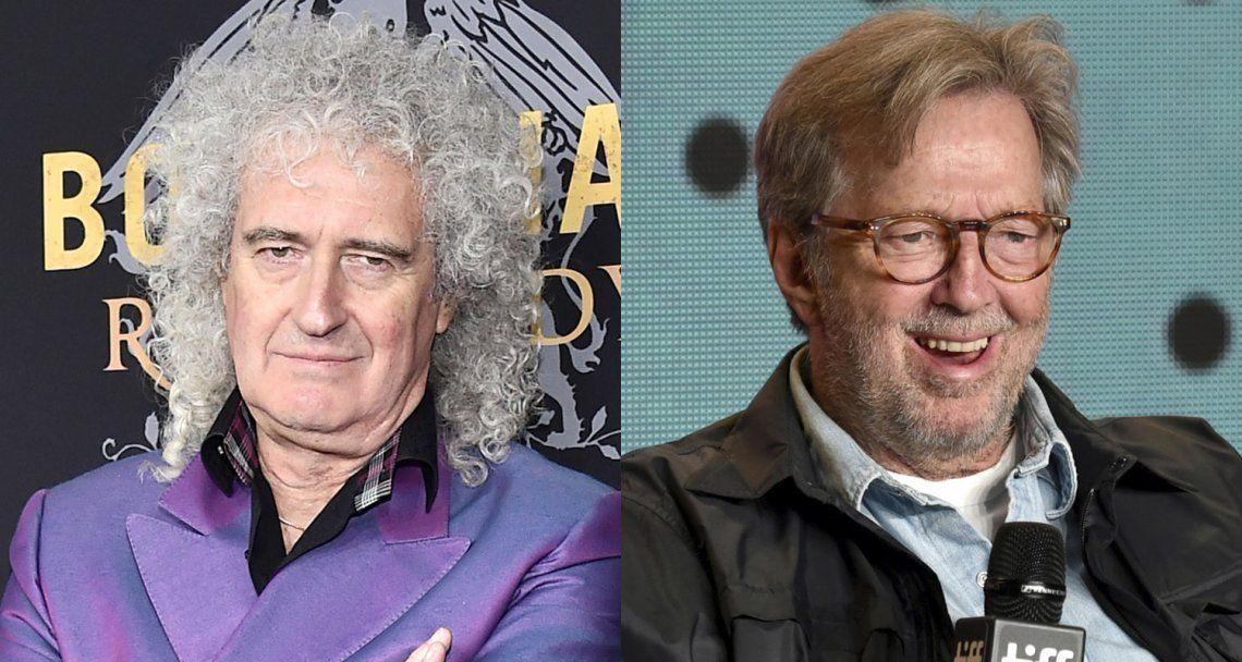 Brian May criticó la postura antivacunas de Eric Clapton