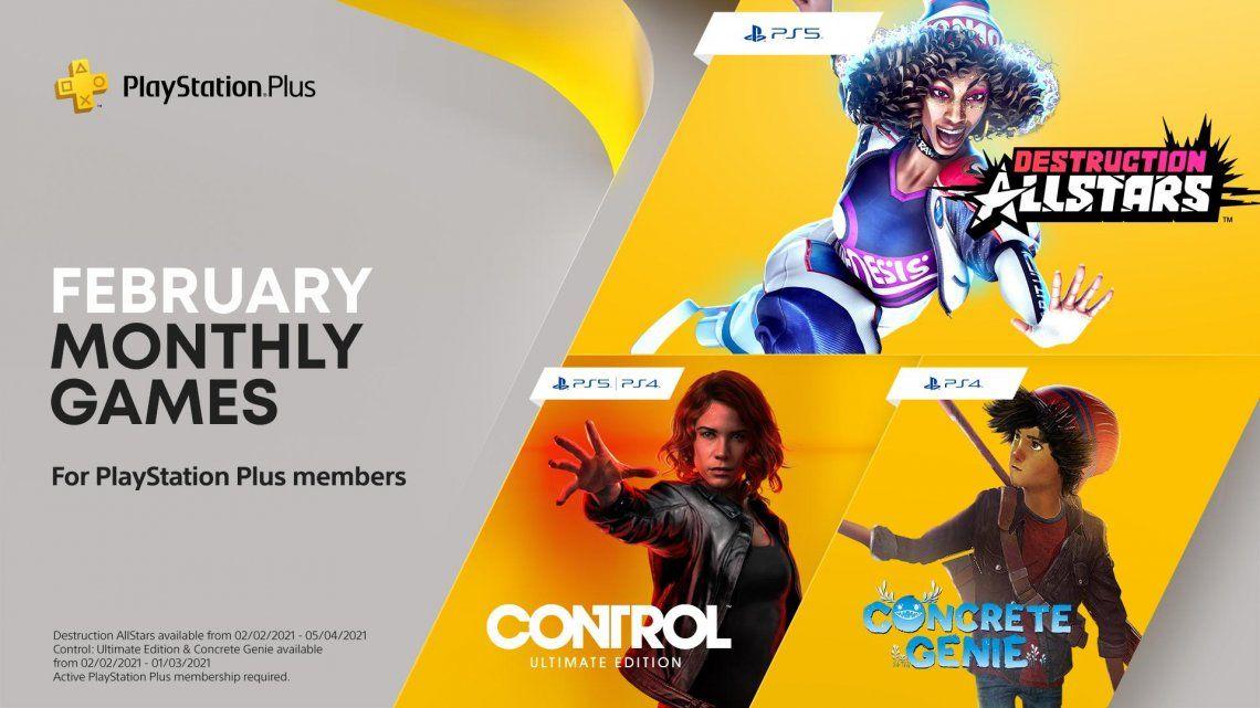 PlayStation: cuáles son los juegos de PS Plus de febrero
