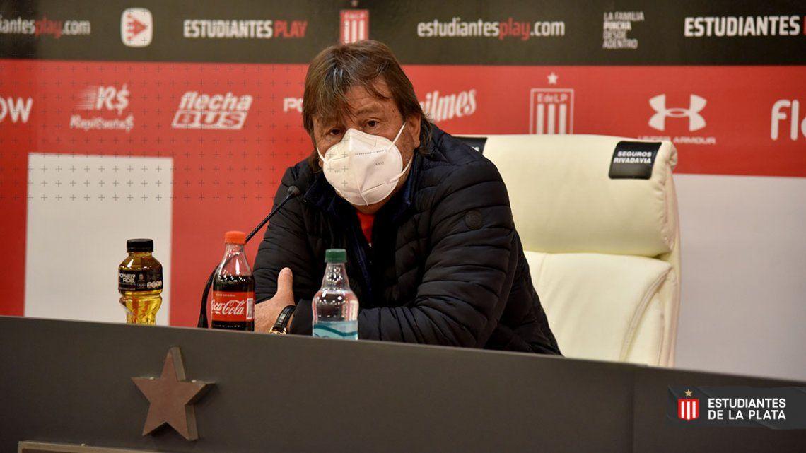 Para Ricardo Zielinski Estudiantes no tuvo suerte en el choque ante Independiente
