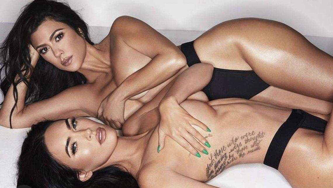 Megan Fox y Kourtney Kardashian, juntas luciendo lencería