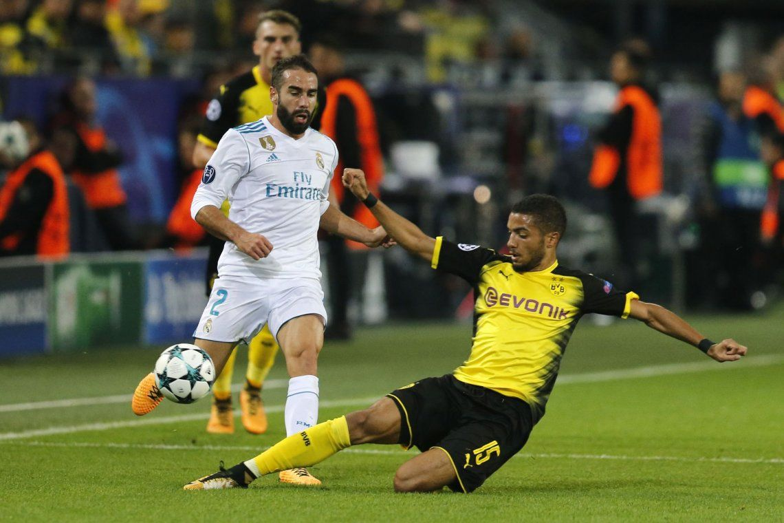 El Real le ganó al Dortmund y se mantiene en la cima de su grupo