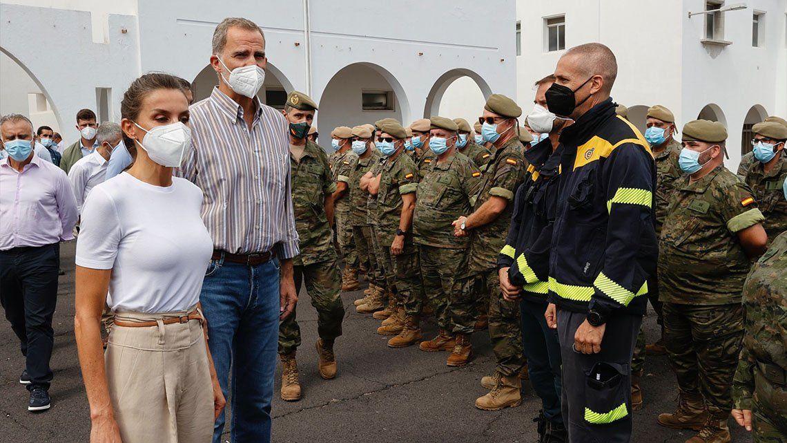 Los reyes de España visitaron la isla de La Palma.