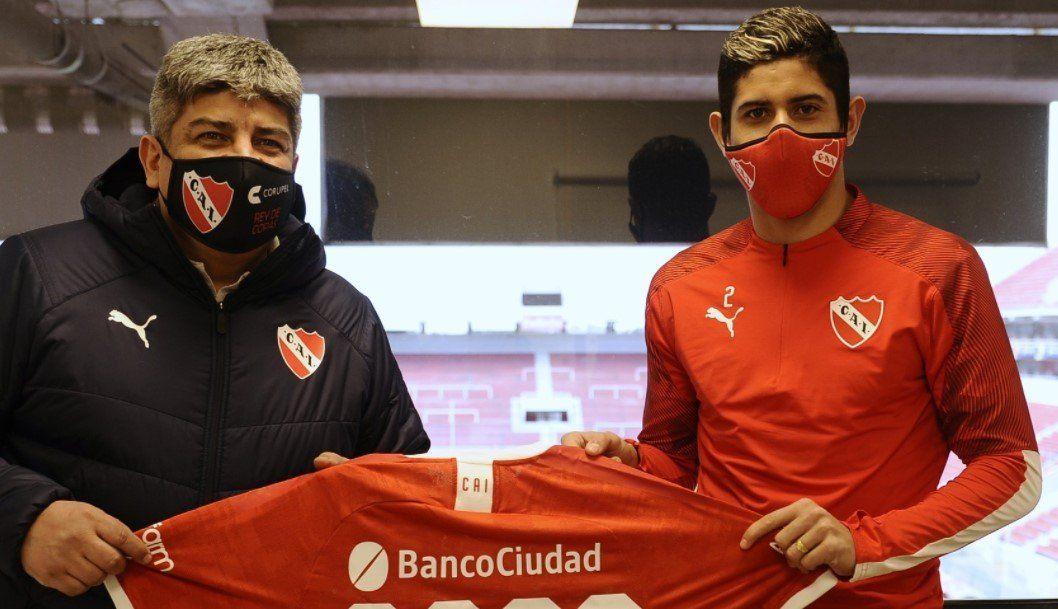Alan Franco extendió su contrato con Independiente hasta 2022