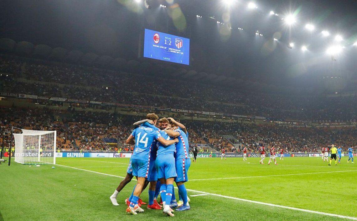 El festejo del Atlético Madrid.