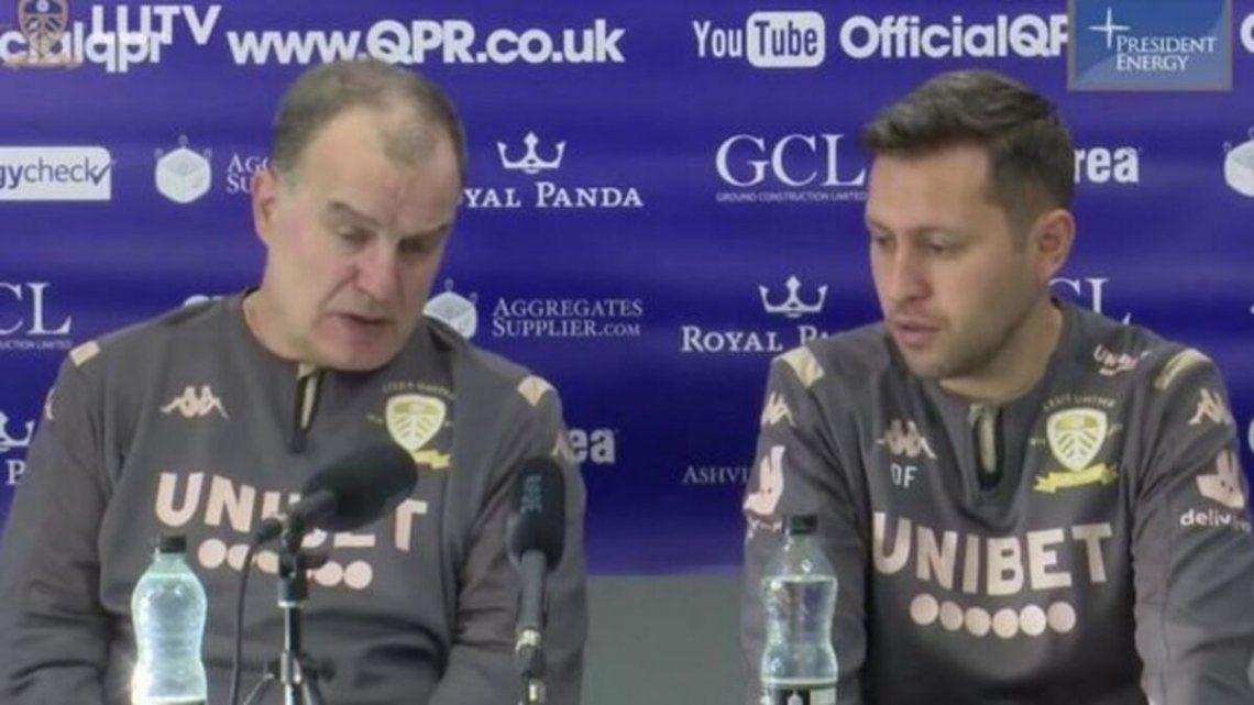 Marcelo Bielsa y Diego Flores trabajaron juntos en Leeds.