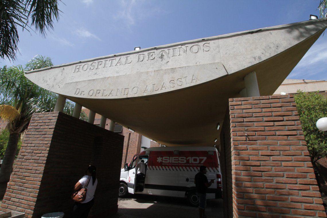 El menor se encuentra internado en el hospital de Niños Dr. Orlando Alassia.